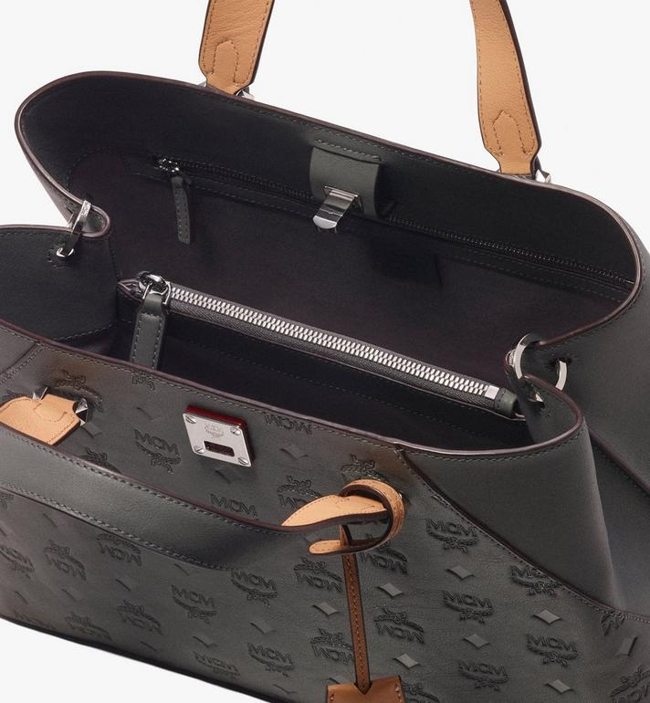 MCM Essential Tote Bag in Monogram Leather  MWT9ASE43EC001 Alternate View 4
