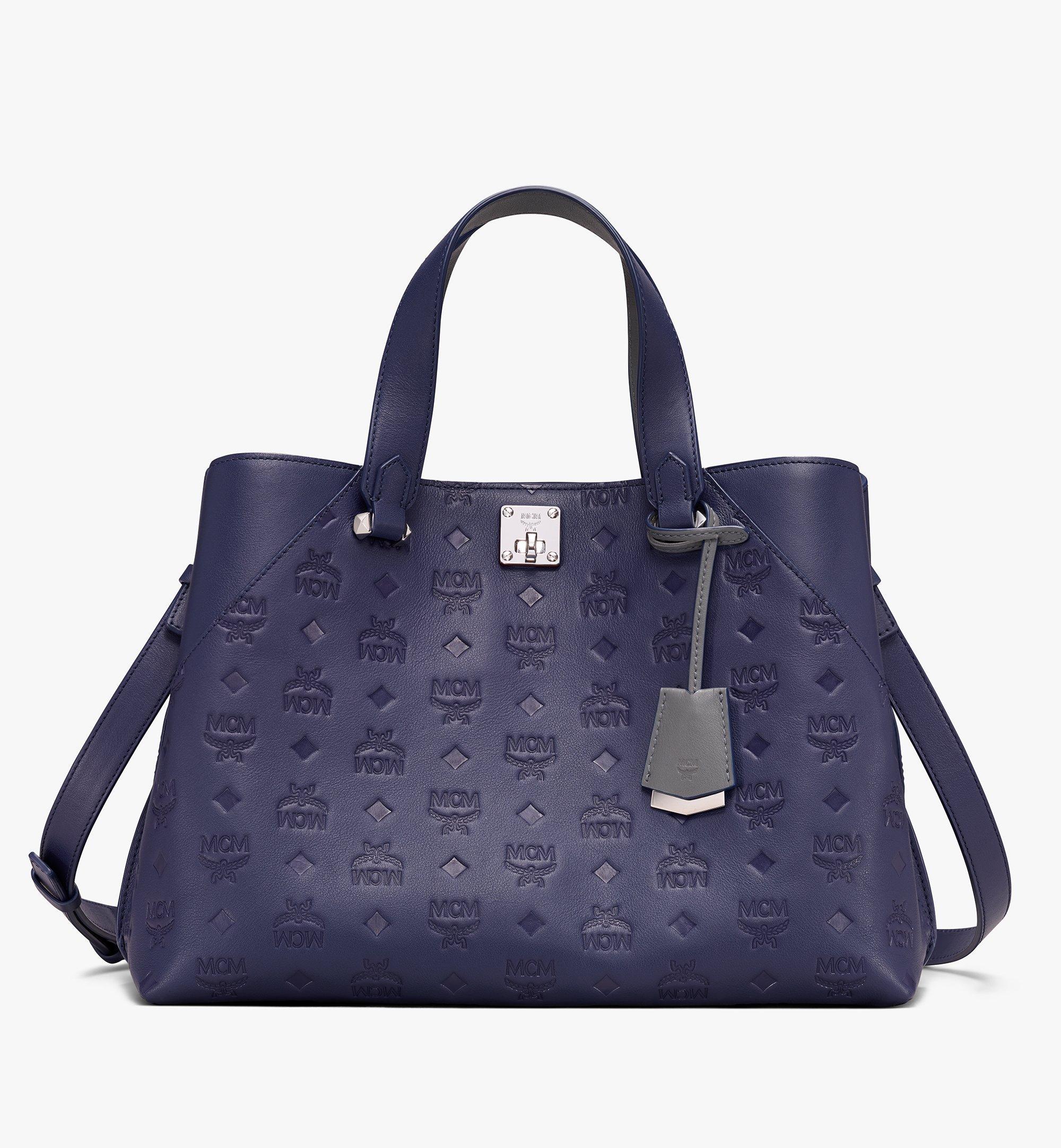 MCM Essential Tote Bag in Monogram Leather  MWT9ASE43VA001 Alternate View 1