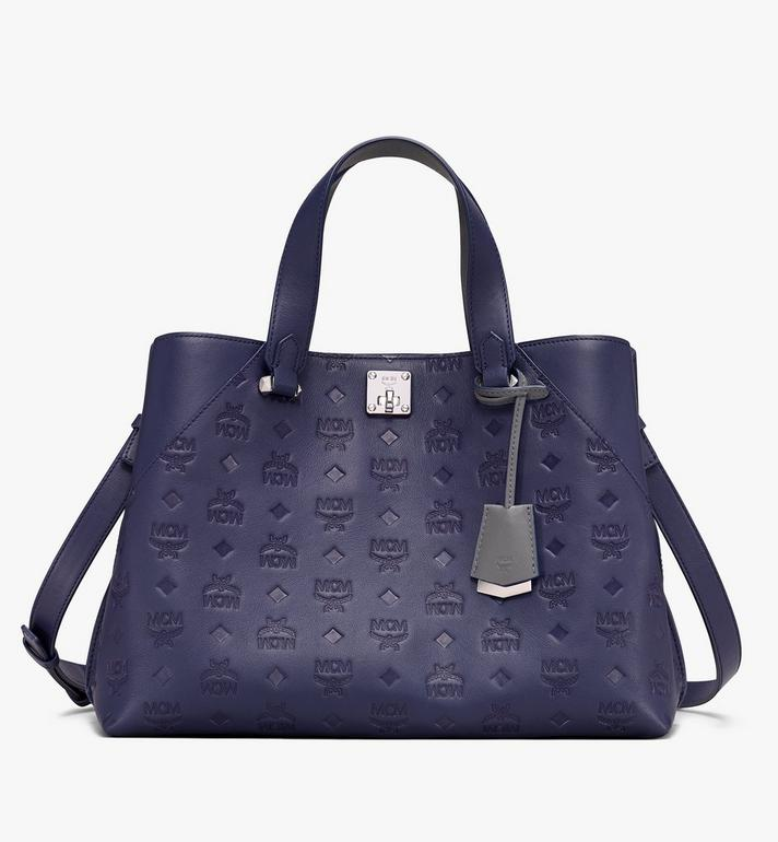 MCM Essential Tote Bag in Monogram Leather Alternate View