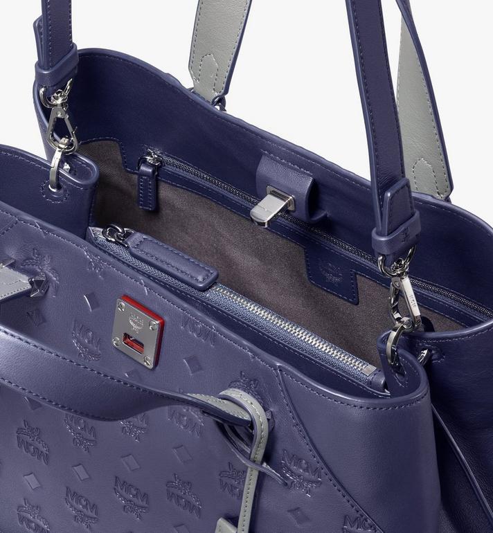 MCM Essential Tote Bag in Monogram Leather  MWT9ASE43VA001 Alternate View 4