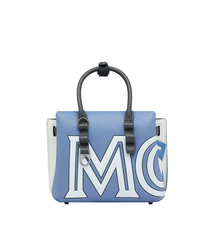 MCM Milla Tote in Contrast Logo Leather Alternate View