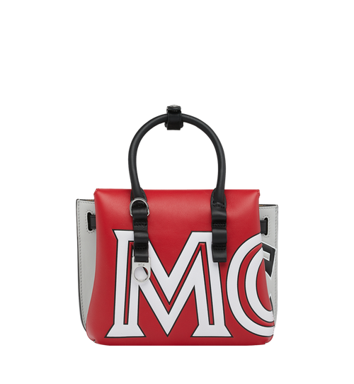 Milla Tote in Contrast Logo Leather
