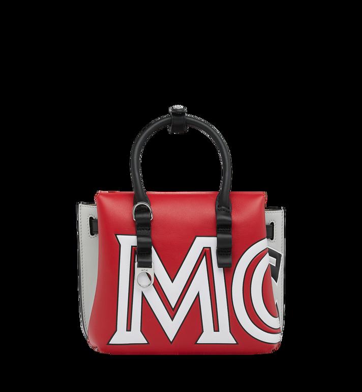 MCM Sac fourre-tout Milla en cuir avec logo contrasté Alternate View