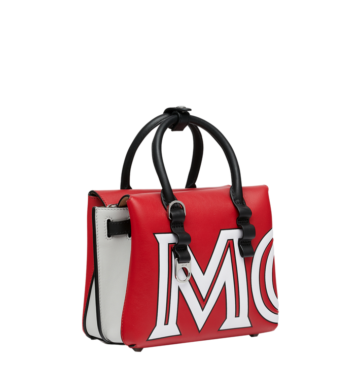 MCM Sac fourre-tout Milla en cuir avec logo contrasté Red MWT9SMA16RU001 Alternate View 2