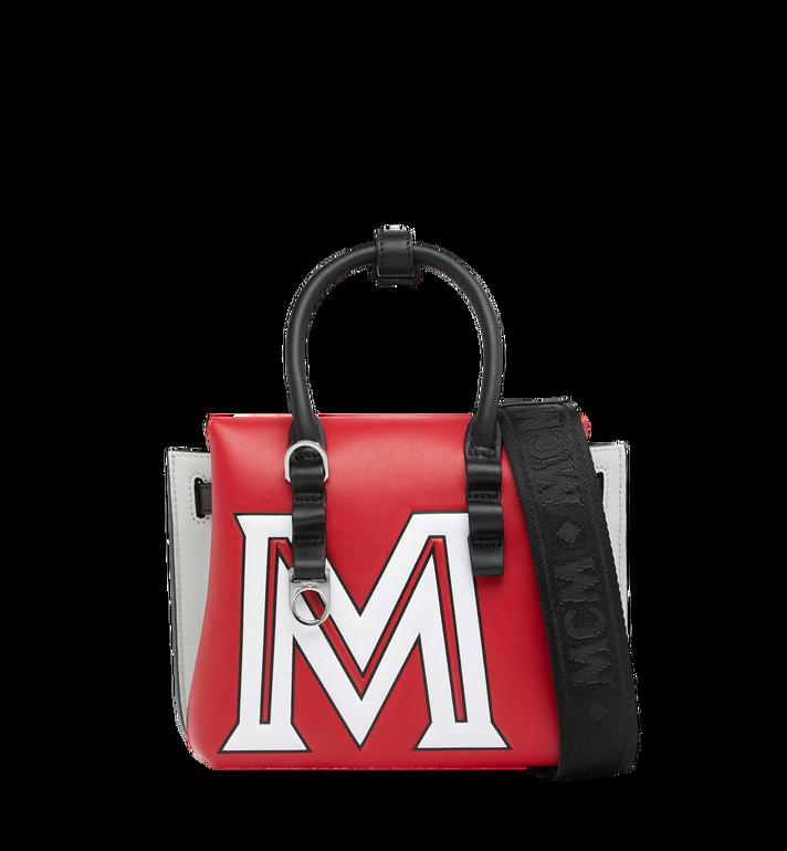 MCM Sac fourre-tout Milla en cuir avec logo contrasté Red MWT9SMA16RU001 Alternate View 4