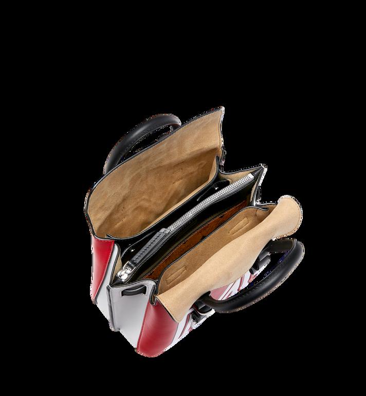 MCM Sac fourre-tout Milla en cuir avec logo contrasté Red MWT9SMA16RU001 Alternate View 5
