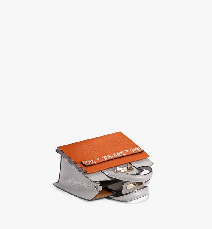 MCM Milano Tote in Color Block Goatskin Leather Orange MWTAADA02O4001 Alternate View 3