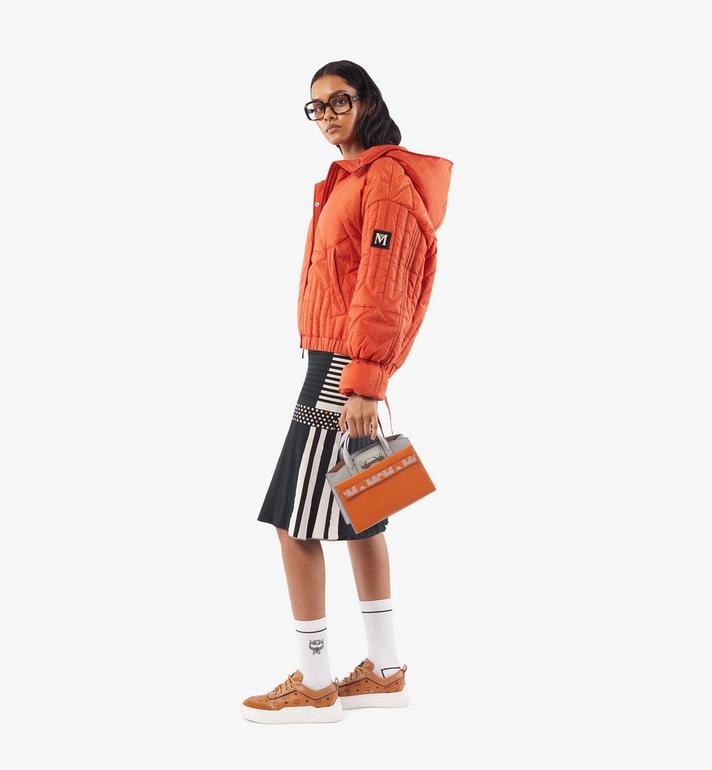 MCM Milano Tote in Color Block Goatskin Leather Orange MWTAADA02O4001 Alternate View 6
