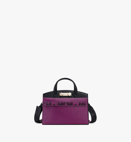Milano Tote-Tasche aus Ziegenleder in Colorblock Design