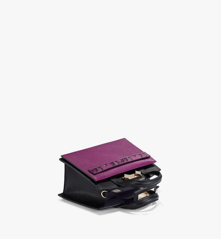 MCM Milano Tote in Color Block Goatskin Leather Purple MWTAADA02UZ001 Alternate View 3