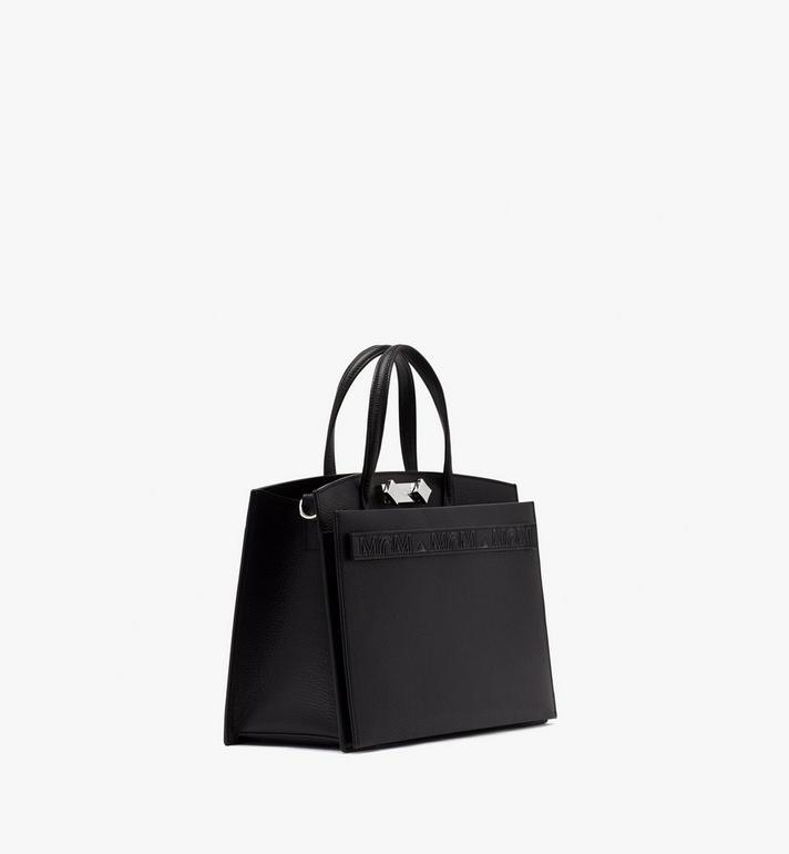 MCM Milano Tote Bag in Goatskin Leather Black MWTASDA03BK001 Alternate View 2