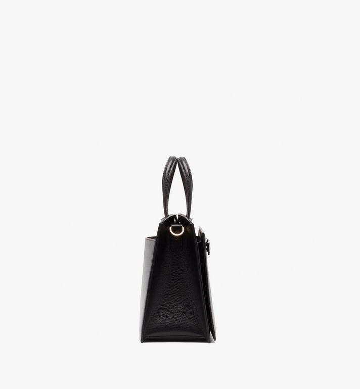 MCM Milano Tote Bag in Goatskin Leather Black MWTASDA03BK001 Alternate View 3