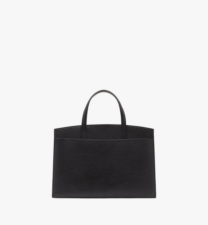 MCM Milano Tote Bag in Goatskin Leather Black MWTASDA03BK001 Alternate View 4