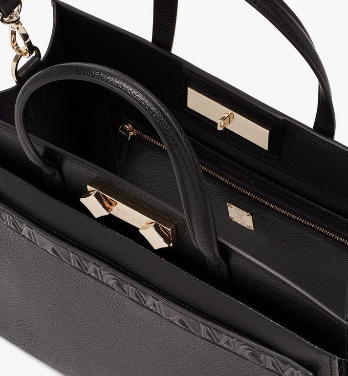 MCM Milano Tote Bag in Goatskin Leather Black MWTASDA03BK001 Alternate View 5