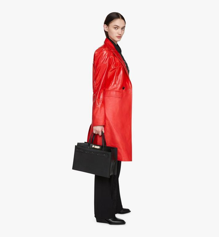 MCM Milano Tote Bag in Goatskin Leather Black MWTASDA03BK001 Alternate View 6