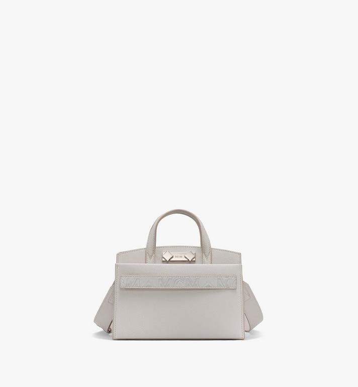 MCM Milano Mini Tote Bag in Goatskin Leather Alternate View