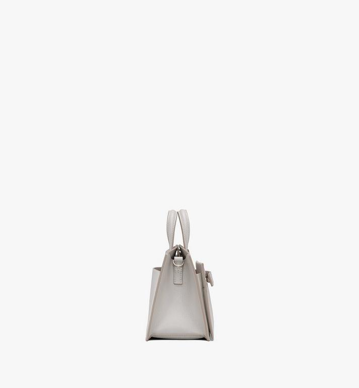 MCM Milano Mini Tote Bag in Goatskin Leather Beige MWTASDA04IH001 Alternate View 2