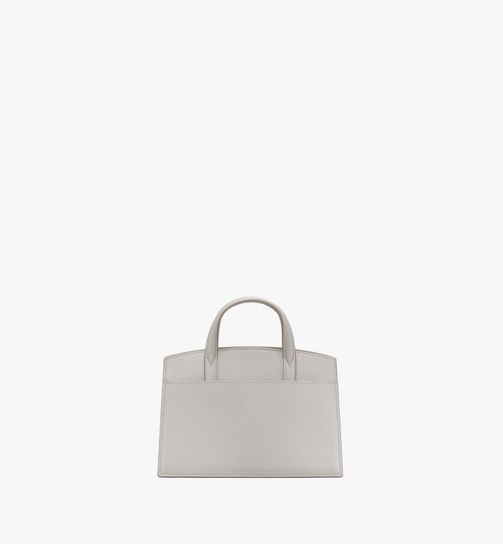 MCM Milano Mini Tote Bag in Goatskin Leather Beige MWTASDA04IH001 Alternate View 3