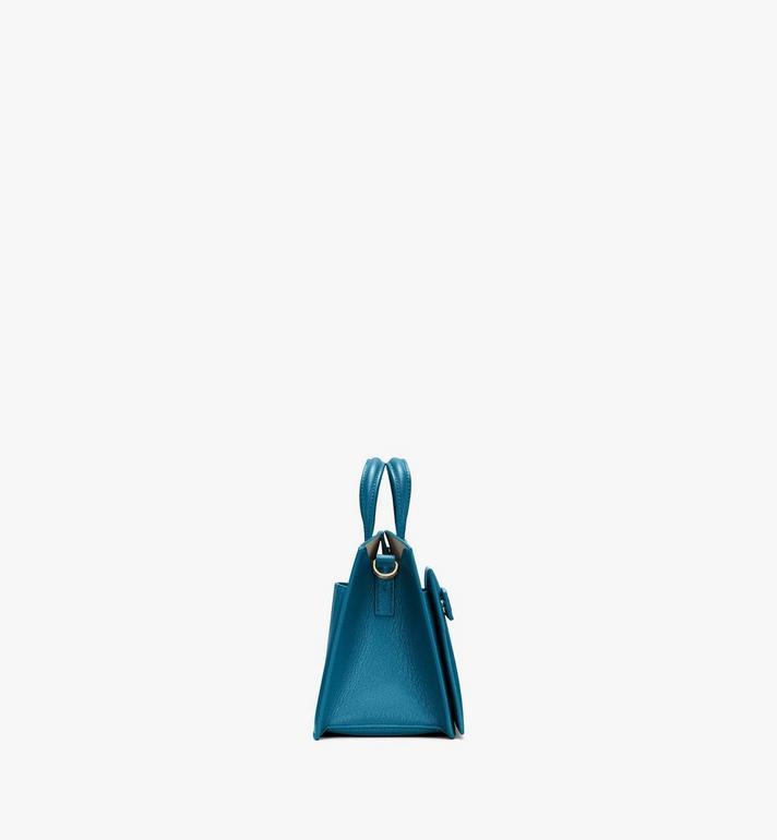MCM Milano Mini Tote Bag in Goatskin Leather Green MWTASDA04JF001 Alternate View 2