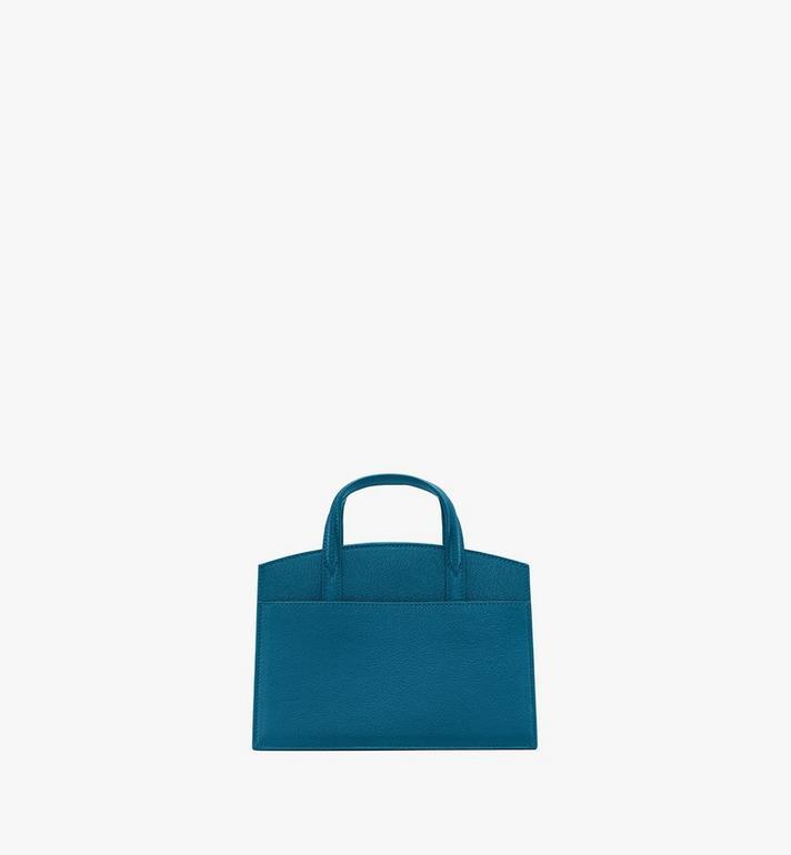 MCM Milano Mini Tote Bag in Goatskin Leather Green MWTASDA04JF001 Alternate View 3