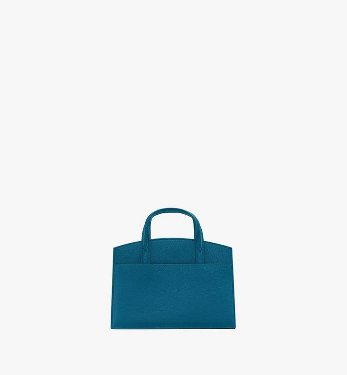 MCM Milano Mini Tote Bag in Goatskin Leather Green MWTASDA04JF001 Alternate View 3
