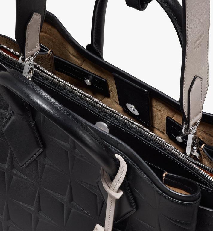 MCM Neo Milla Tragetasche aus Leder mit Rautenmuster Black MWTASMA01BK001 Alternate View 4
