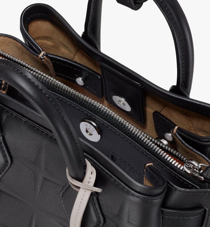 MCM Neo Milla Tote in Diamond Leather Black MWTASMA02BK001 Alternate View 4