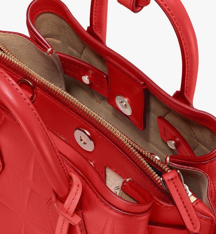 MCM Neo Milla Tote in Diamond Leather Red MWTASMA02R4001 Alternate View 4