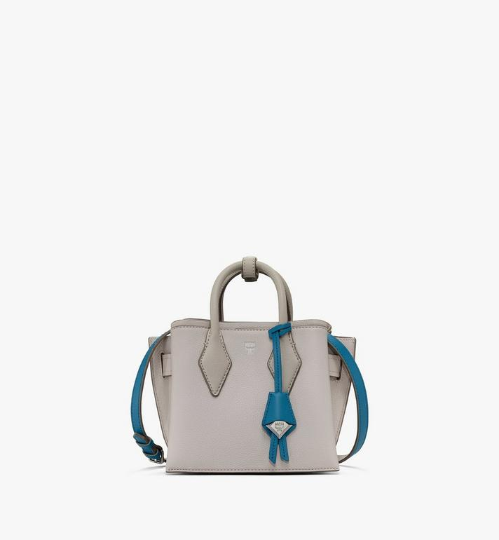 MCM Sac fourre-tout Neo Milla en cuir Park Avenue Grey MWTASMA04FJ001 Alternate View 1