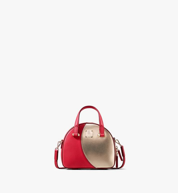 MCM Sac fourre-tout Essential Half Moon Disco Red MWTASSE01R4001 Alternate View 1