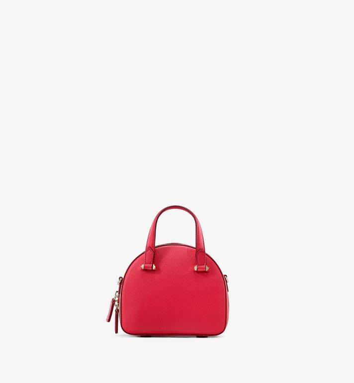 MCM Essential Half Moon Disco Tote Bag Red MWTASSE01R4001 Alternate View 3