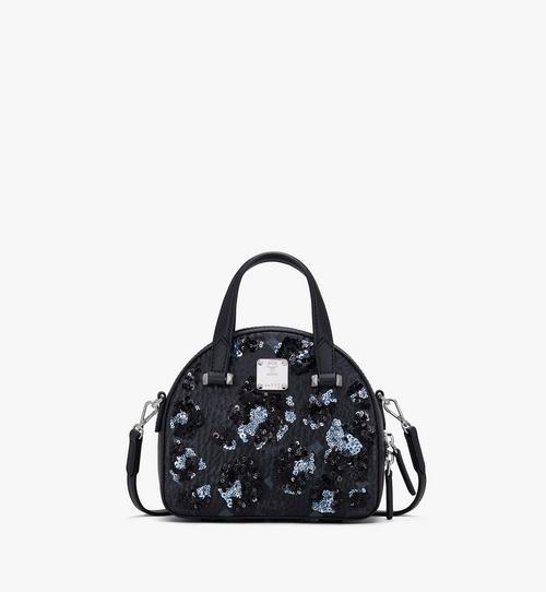 Mini Essential Half Moon Tote in Floral Leopard Spangle