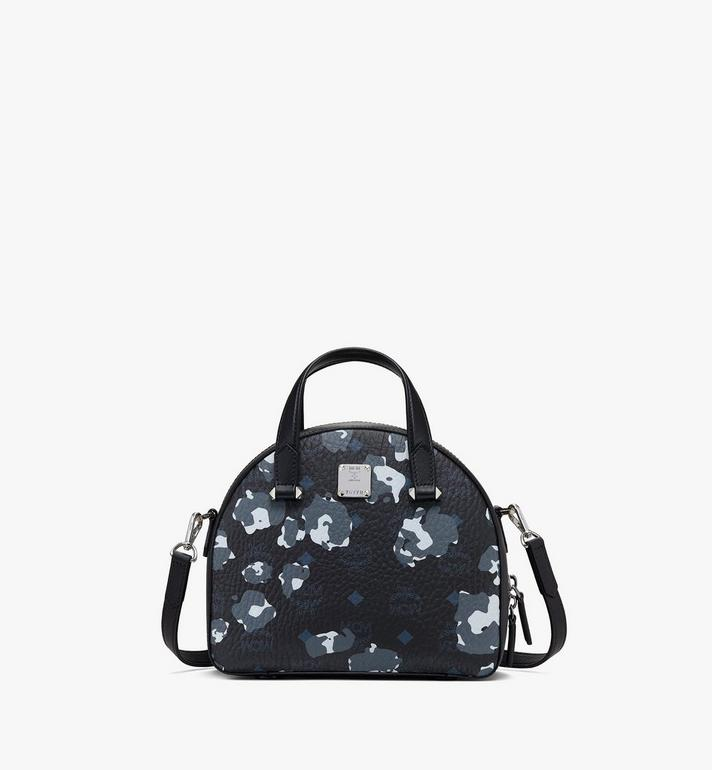 MCM Essential Half Moon Tote in Floral Leopard Alternate View