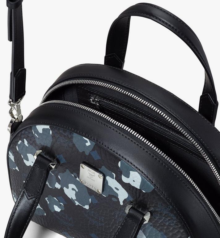 MCM Essential Tragetasche mit geblümtem Leopardenmuster in Form eines Halbmonds Black MWTASSE04B1001 Alternate View 4