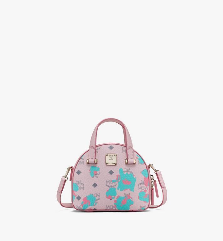 MCM Mini sac fourre-tout Essential Half moon à imprimé Floral Leopard Alternate View
