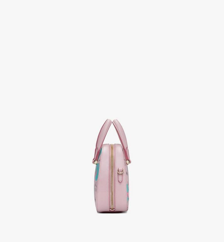MCM Halbmondförmige Essential Mini-Tragetasche mit geblümtem Leopardenmuster Pink MWTASSE05QI001 Alternate View 2