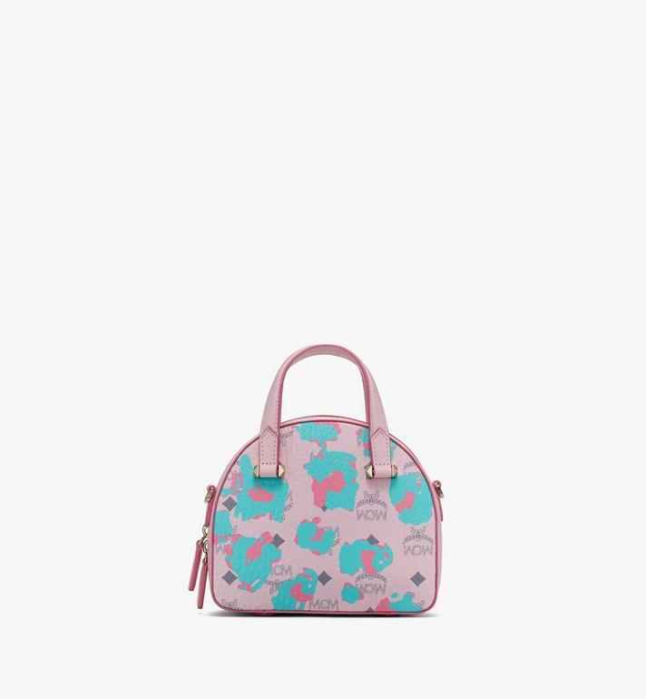 MCM Mini Essential Half Moon Tote in Floral Leopard Pink MWTASSE05QI001 Alternate View 3