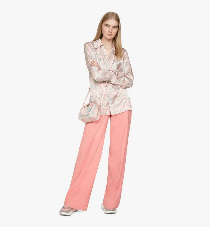 MCM Mini sac fourre-tout Essential Half moon à imprimé Floral Leopard Pink MWTASSE05QI001 Alternate View 6