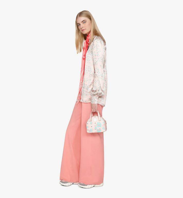 MCM Mini sac fourre-tout Essential Half moon à imprimé Floral Leopard Pink MWTASSE05QI001 Alternate View 8