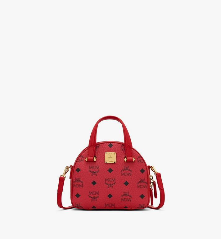 MCM Year Of The Mouse Essential Half Moon Tote in Visetos Red MWTASSE09RJ001 Alternate View 3