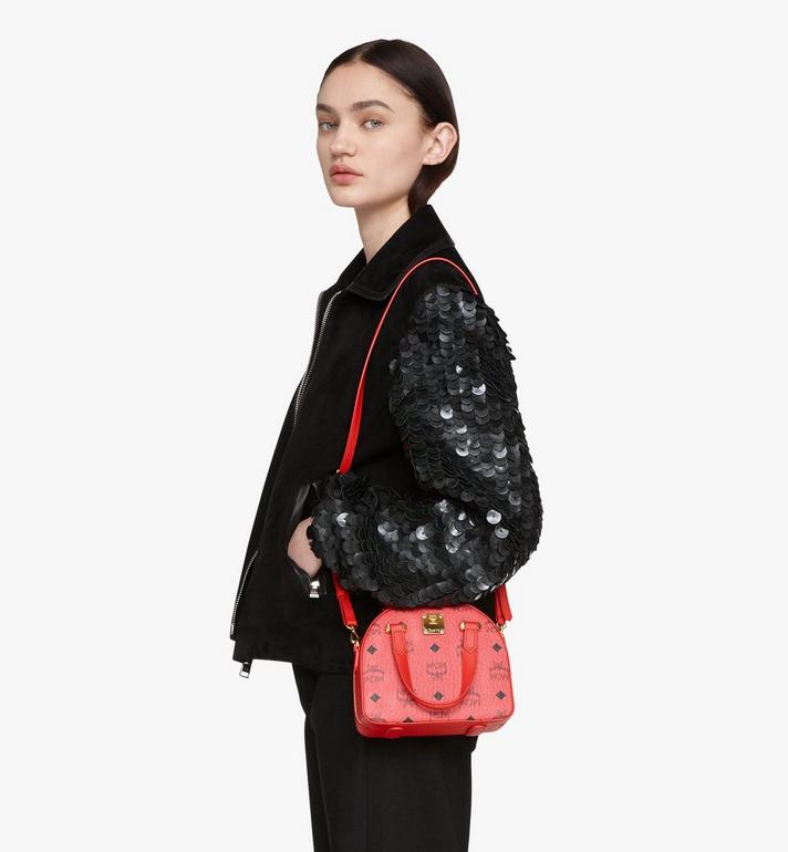 MCM Year Of The Mouse Essential Half Moon Tote in Visetos Red MWTASSE09RJ001 Alternate View 6