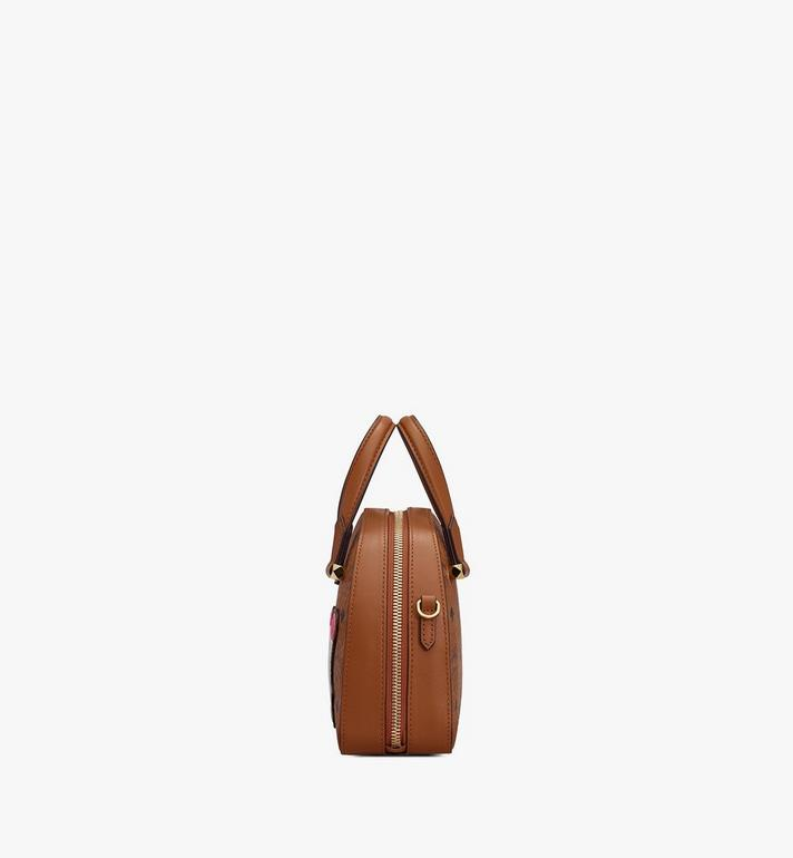 MCM Year Of The Mouse Essential Half Moon Tote in Visetos Cognac MWTASSE10CO001 Alternate View 2