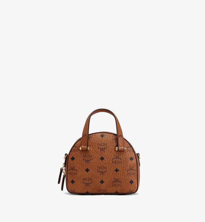 MCM Year Of The Mouse Essential Half Moon Tote in Visetos Cognac MWTASSE10CO001 Alternate View 3