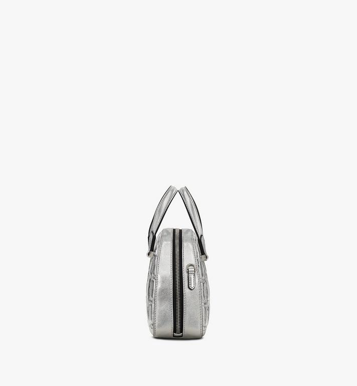MCM Essential Half Moon 金屬鑽石漆皮托特包 Silver MWTASSE11SA001 Alternate View 2