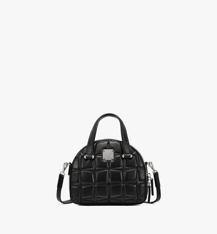MCM Essential Half Moon Tote in Diamond Leather Alternate View