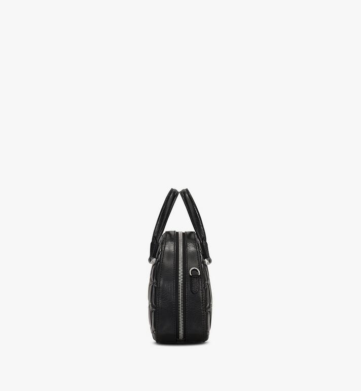 MCM Essential Tragetasche aus Leder mit Rautenmuster in Form eines Halbmonds Black MWTASSE14BK001 Alternate View 2