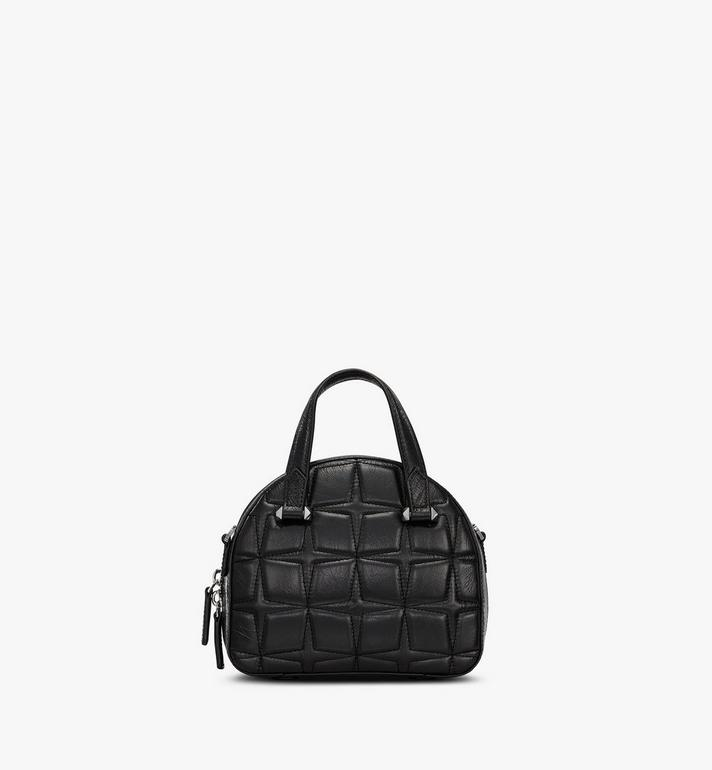 MCM Essential Half Moon Tote in Diamond Leather Black MWTASSE14BK001 Alternate View 3