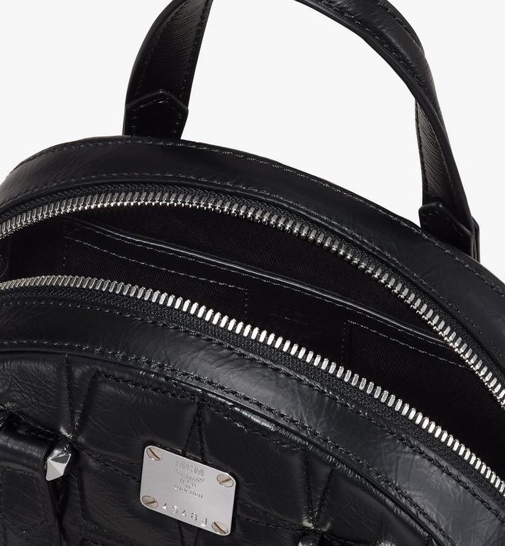 MCM Essential Tragetasche aus Leder mit Rautenmuster in Form eines Halbmonds Black MWTASSE14BK001 Alternate View 4