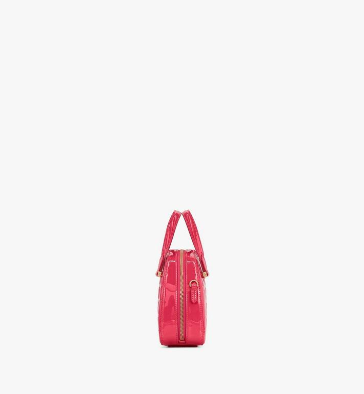 MCM Mini Essential Half Moon Tote in Diamond Patent Leather Pink MWTASSE15QE001 Alternate View 2