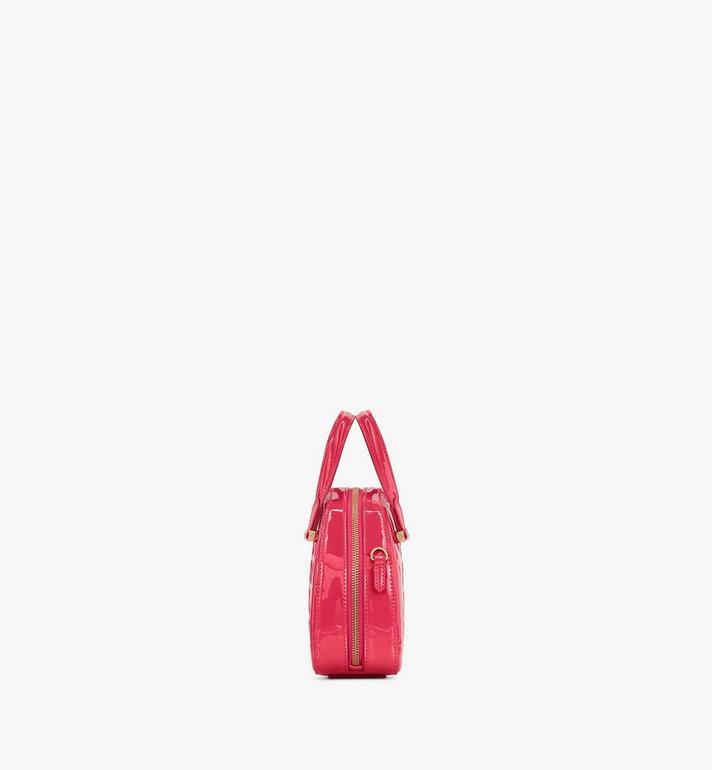 MCM Mini fourre-tout Essential Half Moon en cuir verni Diamond Pink MWTASSE15QE001 Alternate View 2